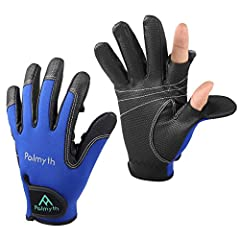 Palmyth flexible sports neoprene gloves for fishing, photography, shooting, touch screen, running, cycling and huntingPACKAGE INCLUDES:1 Pair Palmyth glovesFEATURE:1. Thumb and Index finger caps ensure dexterity2. Breathable neoprene fabric3....