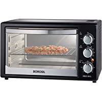 Borosil PRO 30 L OTG, with Motorised Rotisserie and Convection, 1500W, 6 Stage Heat Selection, Black