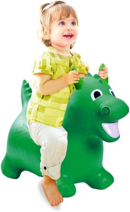 Jamara 460316 - Dragon verde animal saltarín con bomba - Orejas como soporte