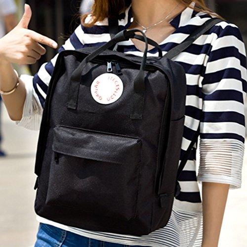 Tibes Moda Backpack Laptop Schoolbag Zaino Per Scuola Zanio Porta Pc Donna Uomo Giallo