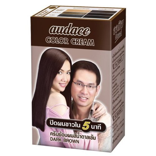 Audace Color Cream Hair Dry 5 Minute, Dark Brown 13 G. Pack