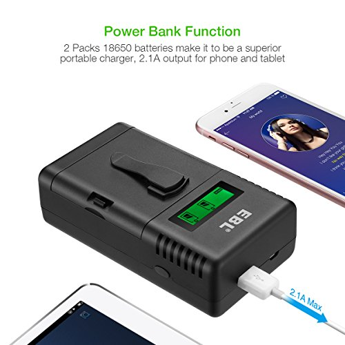 EBL Smart Battery Charger for Li-ion/IMR/Ni-MH/Ni-Cd 26650 18650 16340 RCR123 14500 10440 AA AAA AAAA C Rechargeable Battery with LED Flashlight(Battery Not Included) by EBL (Image #4)