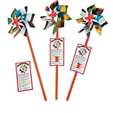 Bargain World Colors of Faith Pinwheels (With Sticky Notes)