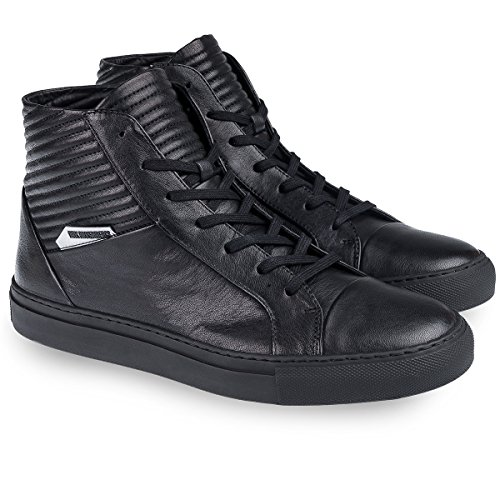 Bikkembergs 154 homme shoe box-cuir-noir