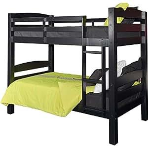 Amazon Com Powell Furniture D1027y16b Levi Bunk Bed Black Kitchen