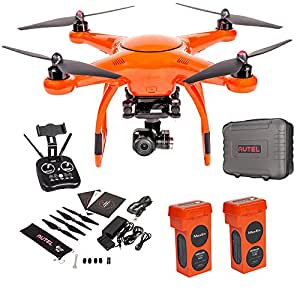 Autel Robotics X-Star 4K Camera, 1.2-Mile HD Live View Drone with 1 Autel Robotics Battery(Li-Po with 4900mAh, 14.8V) and Accessories (Orange)