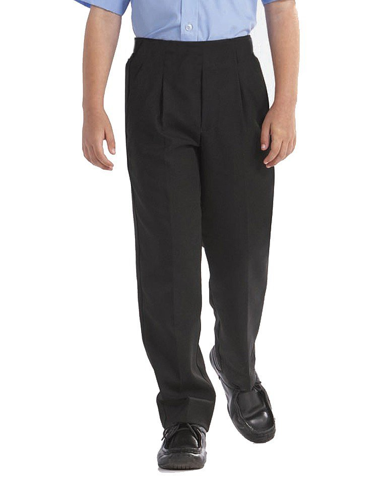 "4Direct Uniforms BOYS PLUS SIZE GENEROUS ""PALVINI"" STURDY SCHOOL/FORMAL TROUSERS/SHORT LEG-Black or Grey"