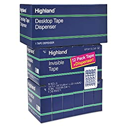 Highland Invisible Permanent Mending Tape, 3/4\