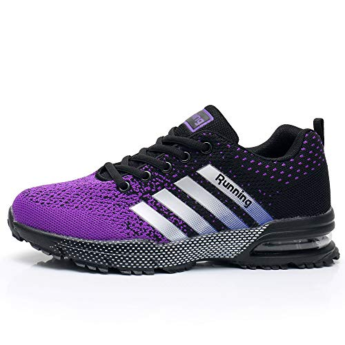 Impdoo Womens Air Cushion Running Tennis Shoes Fashion Breathable Casual Walking Sneakers US5.5-10 B M