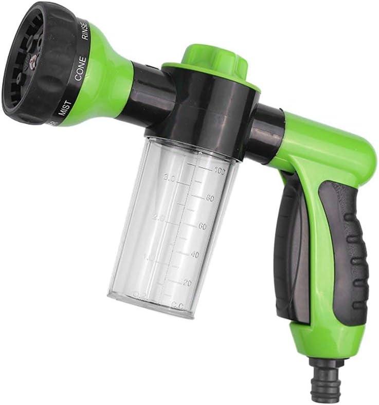 Pistola de agua de espuma Leoboone Lavadora de alta presi/ón Pistola de agua de limpieza Espuma pulverizadora de limpieza para la planta de lavado de coches Regadera Duchas Mascotas