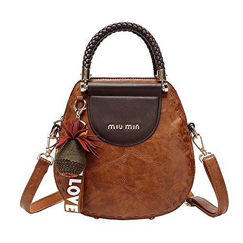 Clutch Da Donna Womens Tote Bags Clutch Bags Retro Leisure Elegante Fashion Wild Movement Borsa A Tracolla Tascabile Multifunzionale Brown