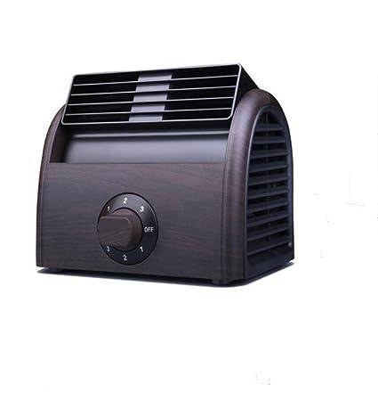 ELEGENCE-Z Mini Ventilador Aire Acondicionado Escritorio Ventilador De Madera Mini Cama Alumno Dormitorio Silenciador