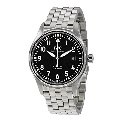 - IWC Men's Swiss Automatic Watch with Stainless Steel Strap, Black (Model: IW327011)