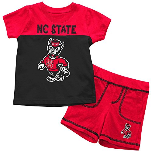 - Infants NCAA NC State Wolfpack Infant T Shirt and Shorts Set Combo (Team Color) - 3-6 Months