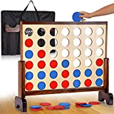 Jumbo 4 in a Row Connect Board Game - Easy to Play - Ideal Party Game for Kids & Adults - Educational & Interactive Game