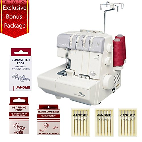 Janome MyLock 634D Mechanical Sewing Machine w/4 Piece Customer Appreciation Bonus