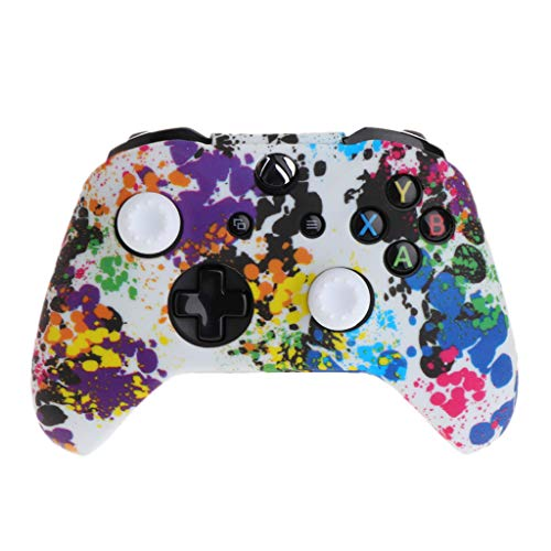 catyrre Popular Silicone Gamepad Cover + 2 Joystick Caps For XBox One X S Controller