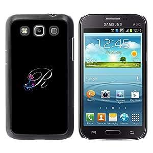 Be Good Phone Accessory // Dura Cáscara cubierta Protectora Caso Carcasa Funda de Protección para Samsung Galaxy Win I8550 I8552 Grand Quattro // Black Initials Letter Calligraphy T