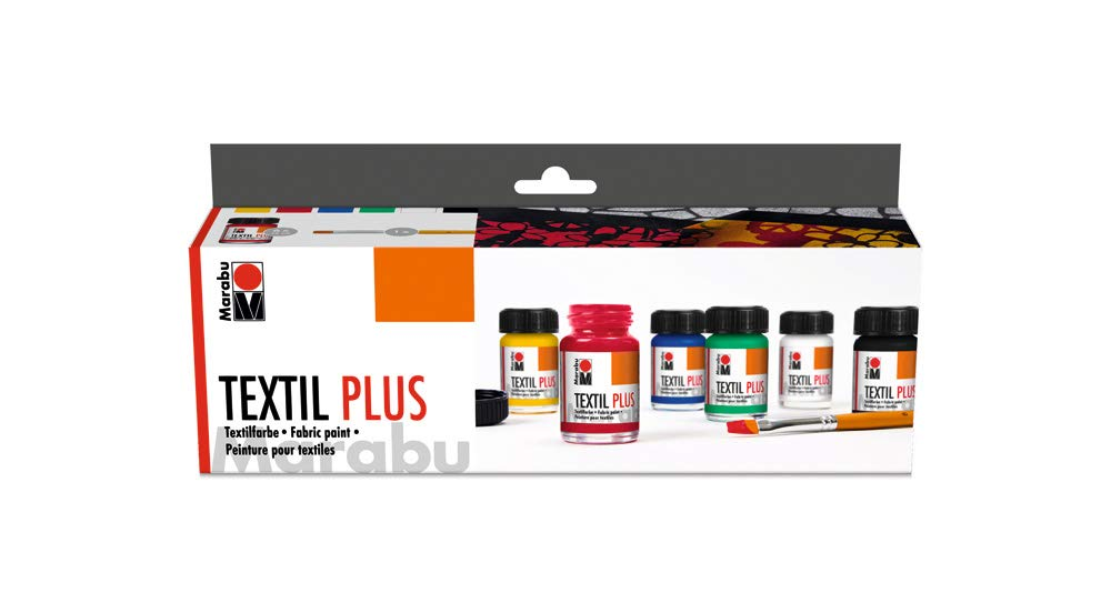 Marabu Textil Plus Fabric Paint Starter Set (6x15ml)