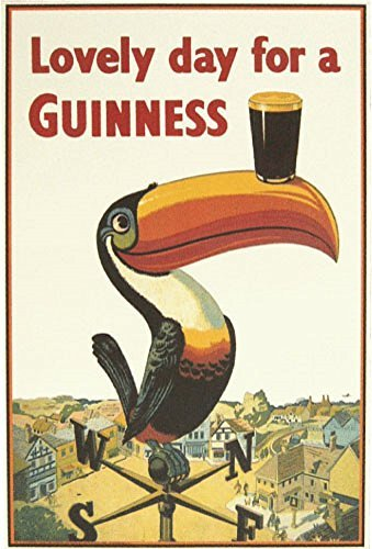 - Guinness Poster, Lovely Day for a, Tucan, Weather Vane
