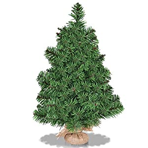 Goplus Christmas Tree Tabletop Artificial PVC Green Tree 9