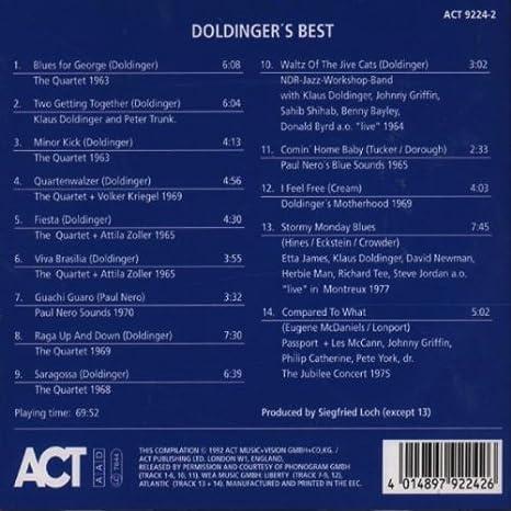Doldinger\'S Best - Klaus Doldinger: Amazon.de: Musik