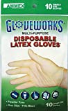 AMMEX - GWL10PK - Latex Gloves - Gloveworks - 10/pack, Disposable, Powder Free, 4 mil, Uni-size, White (Case of 250)