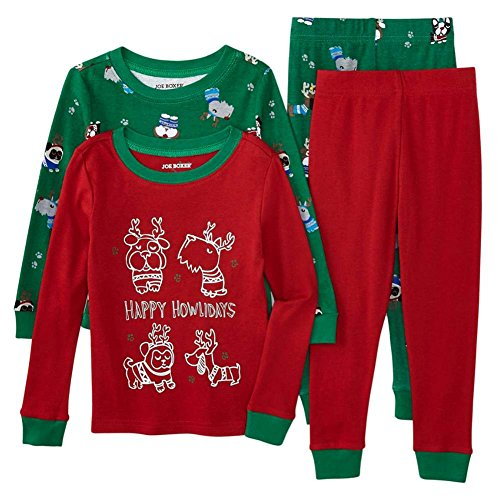 Joe Boxer Infant & Toddler Boys Happy Howlidays Christmas Reindeer Pajamas 2T