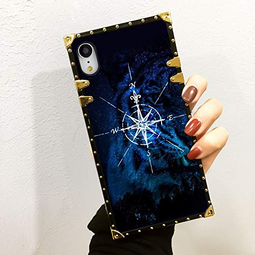 ZSTVIVA iPhone Xr Case Compass Elegant Luxury Designe TPU Soft Bumper Shock Protective Case for iPhone Xr