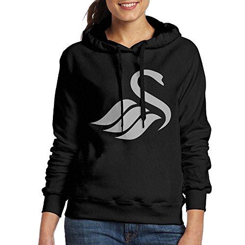 UFBDJF20 Swansea City AFC Logo Fleece Sweatshirt For Women XXL Black