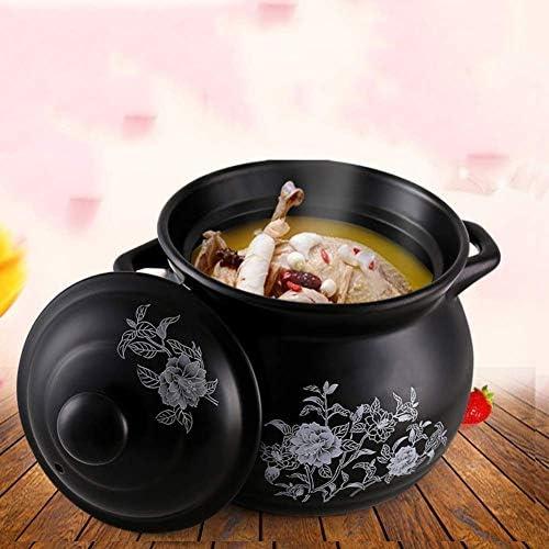 YWYW Casserole en céramique Pot à ragoût Domestique résistant à la Chaleur 2.6L diamètre 22.2cm adapté à Tous Les poêles sauf cuisinière à Induction, 2.6L