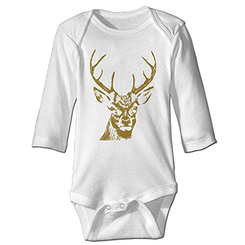 DecorMyGarden Deer Sketch Funny Halloween Printed Jumpsuit For Infant 0-24 - Sunglasses Monopoly