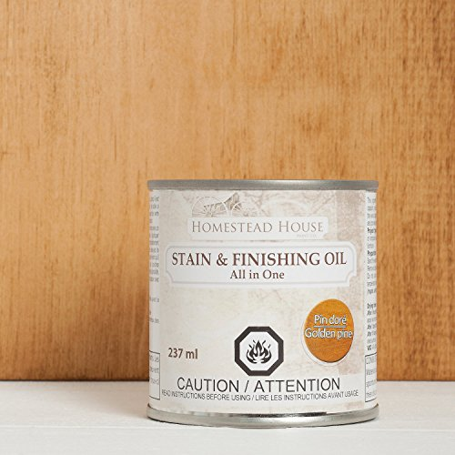 - Stain and Finishing Oil All in one Golden Pine 237 ml