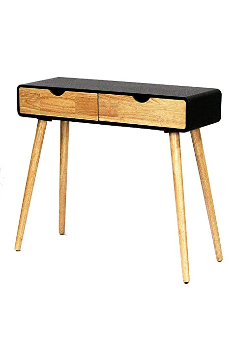 Heather Ann Creations Euro Collection Modern 2 Drawer Console Table Writing  Desk, 31.5u0026quot; Tall