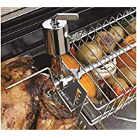 Outdoor Magic Spit Grill Basket with 4 Adjustable Positions