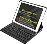 "Inateck 9.7"" iPad Keyboard Case, Only Compatible with A1566,A1567,A1673,A1674,A1675, Intelligent Magnetic Switch Equiped,Black"