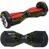 MightySkins Protective Vinyl Skin Decal for Self Balancing Board Scooter Hover 2 Wheel Mini Board Unicycle Bluetooth wrap Cover Sticker Green Distortion