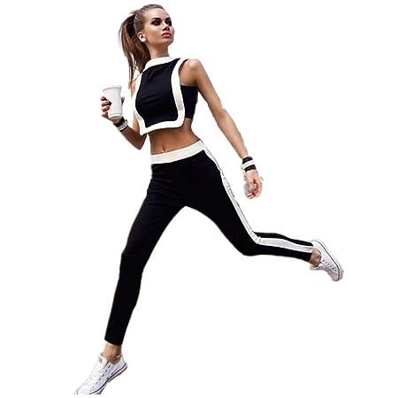 Mujeres deporte yoga pantalones ajustados Chaleco de mosaico ...