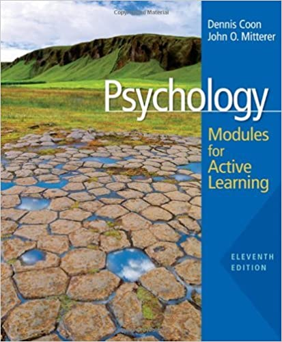 Psychology- Modules for Active Learning 11th EDITION