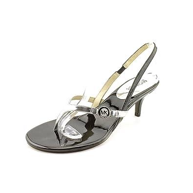 4202238d036b Michael Michael Kors Bridget Black Silver Slingback Thong Sandals - Size 7.5