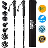 Trekking Poles PeakTop 2-pc Pack Adjustable Hiking, Lightweight/Shock Absorption/Carbon Fiber Climbing/Walking and Running Sticks/Walking Stick. 4 Seasonal/All Terrain Accessories and Tote Bags