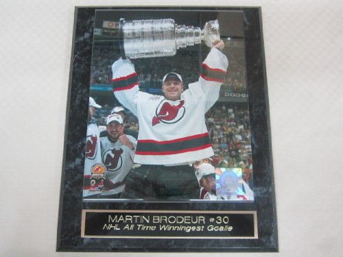 Martin Brodeur New Jersey Devils Stanley Cup Engraved Collector Plaque w/8x10 - Jersey Devils Plaque New