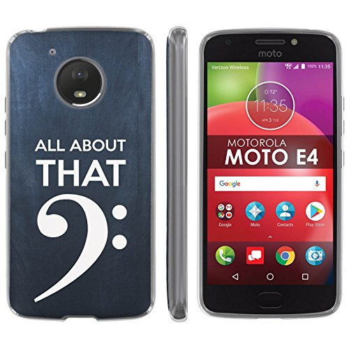 Motorola Moto E [4th Gen] TPU Silicone Phone Case [Mobiflare] [Clear] Ultraflex Thin Gel Phone Cover - [Bass Clef] for Moto E4 [Moto E 4th Gen] [5