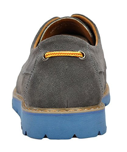 Serene Mens New Design Colored Sole Suede Upper Casual Fashion Sneakers(8 D(M)US, Grey)