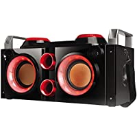 QFX PBX-505200BTRD Portable Bluetooth Party PA System/Boombox - Red