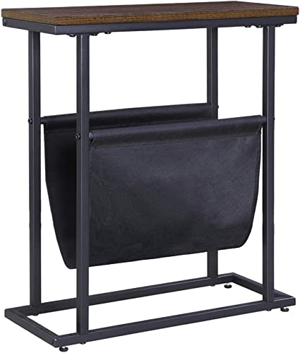 FIVEGIVEN Small Narrow Side Table Retro Industrial End Table