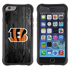 Lady Case@ Cincinnati Bengal Football Rugged Hybrid Armor Slim Protection Case Cover Shell For iphone 6 6S CASE Cover ,iphone 6 4.7 case,iphone 6 cover ,Cases for iphone 6S 4.7