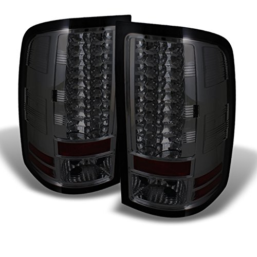 For GMC Sierra Denali 1500 2500 3500 Pickup Truck Rear LED Tail Lights Signal Brake Lamps Smoked