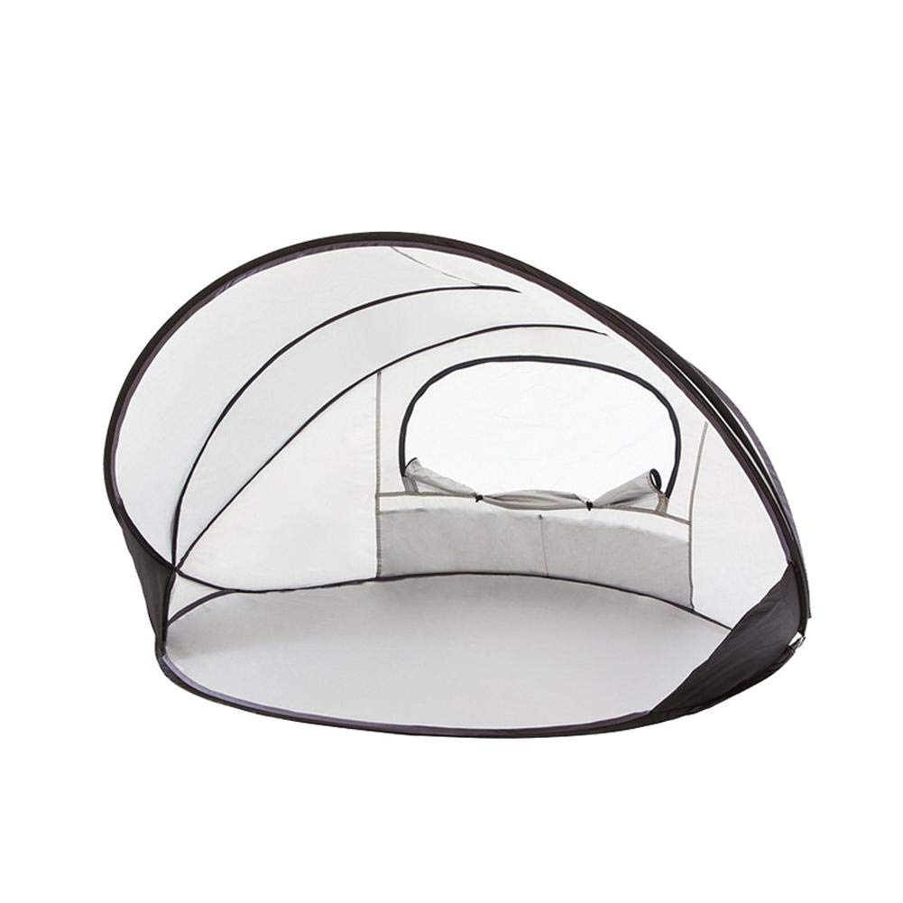 Silver Heptern Oversize Multi-Person Beach Tent Sun Shelter Shade from Build Windproof Rainproof UV Predection Tent for Beach Fishing Camping Hiking