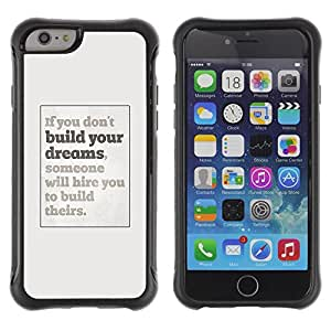 BullDog Case@ Dreams You Inspiring Poster Grey Inspiring Rugged Hybrid Armor Slim Protection Case Cover Shell For iphone 6 6S CASE Cover ,iphone 6 4.7 case,iphone 6 cover ,Cases for iphone 6S 4.7